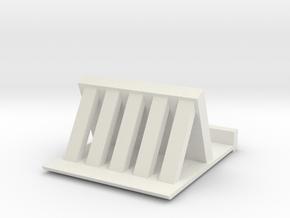 IPhone Stand in White Natural Versatile Plastic: Medium