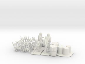 Hazmat Team 4, Multiple Scales in White Natural Versatile Plastic: 1:87