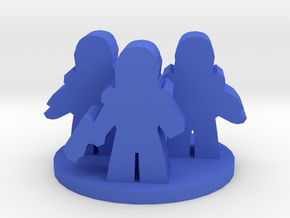 Game Piece, Space Troopers in Blue Processed Versatile Plastic