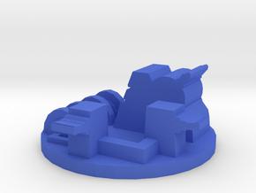Game Piece, Space Trooper Base in Blue Processed Versatile Plastic