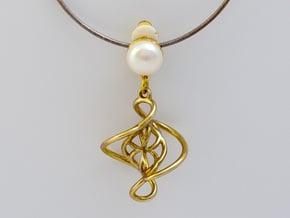 Swirl Pendant in Polished Brass