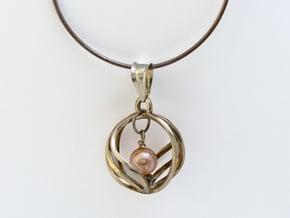 Spherical Loop Pendant in Polished Silver