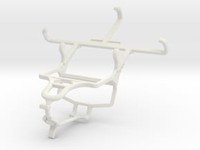 Controller mount for PS4 & Celkon Millennia Hero in White Natural Versatile Plastic