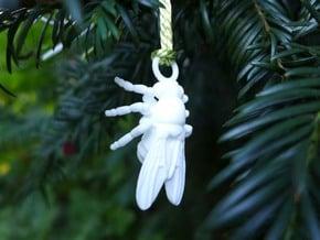 Drosophila Ornament - Science Gift in White Processed Versatile Plastic