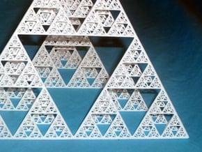 Sierpinski tetrahedron level 5 in White Natural Versatile Plastic