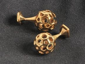 Bucky Cufflinks in Polished Brass