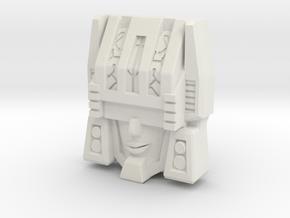 "R63 - ""Thinktank"" Face (Titans Return) in White Natural Versatile Plastic"