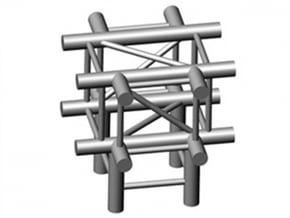 Square Truss X+L90-piece 1.10 in White Natural Versatile Plastic