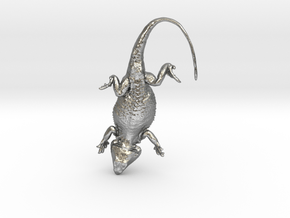 Bearded Dragon for silver - 35mm in Natural Silver