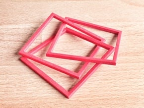 Interlocking Square Bracelet (kids version) in Red Processed Versatile Plastic