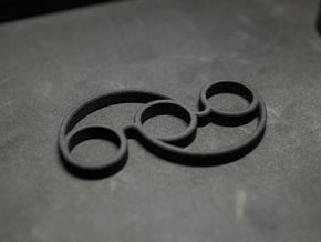 The Swirl - Fidget Spinner - For Your Idle Hands in Black Natural Versatile Plastic
