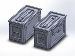 1/48 .50 cal Ammo Cans (12) in Smooth Fine Detail Plastic