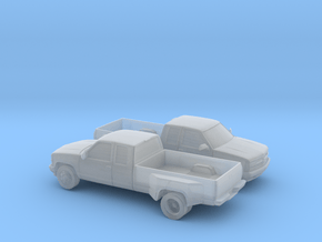 1/160 2X  1994 Chevrolet Silverado Ext Dually in Smooth Fine Detail Plastic