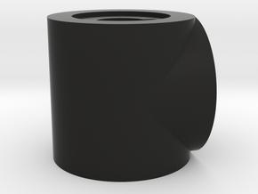 T in Black Natural Versatile Plastic