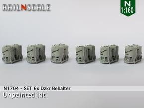 SET 6x Dzkr 501 Behälter (FLM/MTX) (N 1:160) in Smooth Fine Detail Plastic