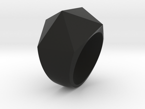 Facet Ring in Black Natural Versatile Plastic: 6.25 / 52.125