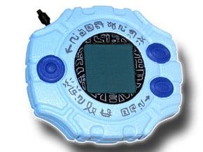 Digimon Digivice in White Processed Versatile Plastic