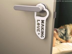 "Door-hanger ""Making Love"" (large) in White Natural Versatile Plastic"