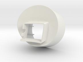 Aillio Bullet R1 - Exhaust Adaptor 100mm in White Natural Versatile Plastic