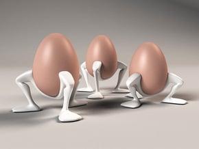 """Egg cup """"Leggies"""" in White Processed Versatile Plastic"""