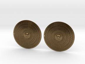 Earrings- Bronze Cymbals in Natural Bronze