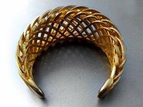 Echo.D bracelet in Polished Gold Steel
