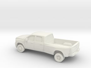 1/87 2012 Dodge Ram 3500 Long Bed Dually in White Natural Versatile Plastic