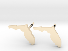 Florida State Earrings, post style in 14k Gold Plated Brass