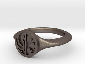 Star Wars the Old Republic crest Ring  in Polished Bronzed Silver Steel