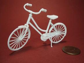Miniature Vintage Bicycle (1:24) in White Natural Versatile Plastic