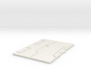 Starwars TFA resistance  Pilot Plate in White Natural Versatile Plastic