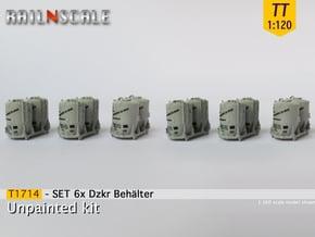 SET 6x Dzkr 501 Behälter (TT 1:120) in Smooth Fine Detail Plastic