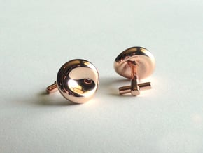 Red Blood Cell Cufflinks in 14k Rose Gold Plated Brass