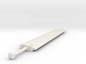 Berserk Dragonslayer Sword in White Natural Versatile Plastic