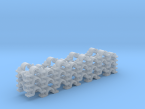 """Pipe Clamp (Wall) 1/16"""" (x52) in Smooth Fine Detail Plastic"""
