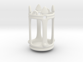 Lantern Crown Miniature in White Natural Versatile Plastic