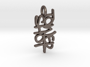 Tower Shot in Polished Bronzed Silver Steel
