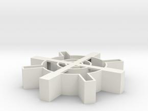 Steampunk gear Cookie Cutter 4 in White Natural Versatile Plastic