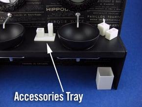 Bath Accessories Tray 1:12 scale in White Processed Versatile Plastic