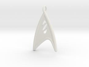 Starfleet Science Badge pendant in White Natural Versatile Plastic