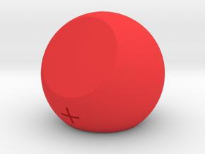 Fate Dice d3 in Red Processed Versatile Plastic