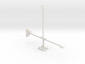 Samsung Galaxy Tab 4 10.1 tripod mount in White Natural Versatile Plastic