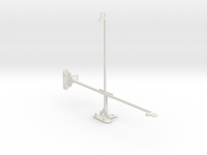 Samsung Galaxy Tab 4 10.1 (2015) tripod mount in White Natural Versatile Plastic
