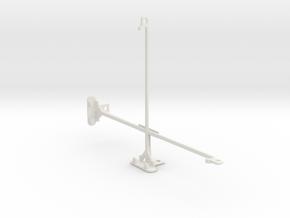 Samsung Galaxy Tab Pro 10.1 tripod mount in White Natural Versatile Plastic