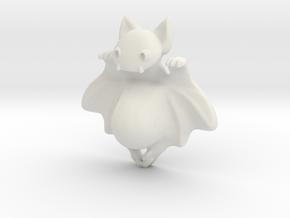 Bat Smarphone Stand in White Natural Versatile Plastic