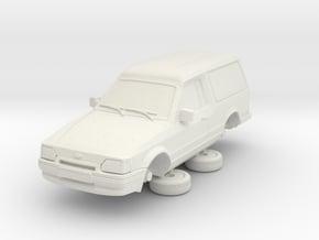 Ford Escort Mk4 1-76 2 Door Large Van Hollow in White Natural Versatile Plastic