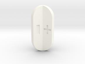 Fudge Radial Fins in White Processed Versatile Plastic