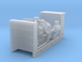 1/87th Diesel Electric Engine generator w cabinet in Smooth Fine Detail Plastic