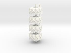 28L26 Rice Tire in White Processed Versatile Plastic