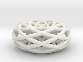 doubleishTorus 6 loop - medium in White Natural Versatile Plastic